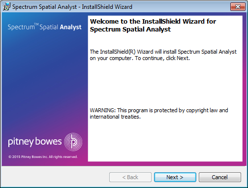 Installing Spectrum Spatial Analyst through Wizard